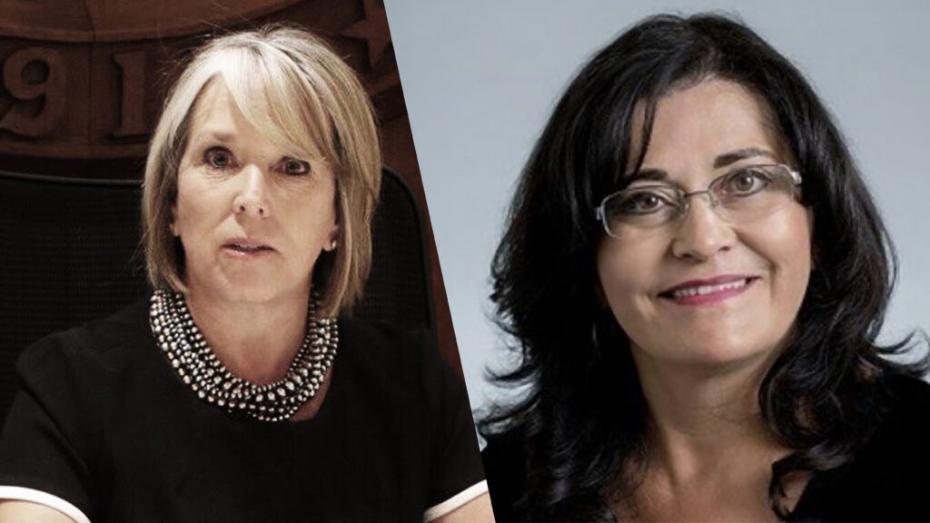 Michelle Lujan Grisham and PED Secretary Karen Trujillo, Ph.D.